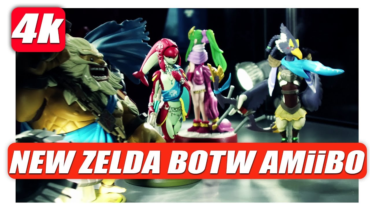 ALL NEW ZELDA BOTW CHAMPiONS AMiiBO Close Up in 4K