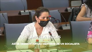Ángela Mulas vapulea a un embustero socialista que enchufo a sus allegados en la FAFFE
