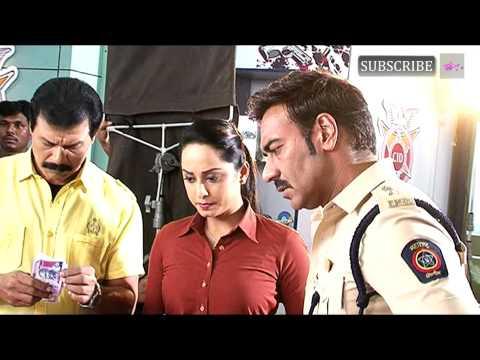 Ajay Devgan on set of CID for promotion of Singham Returns thumbnail