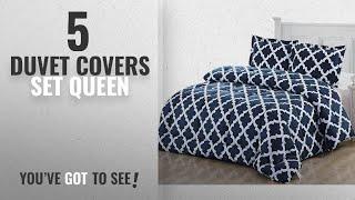 Top 10 Duvet Covers Set Queen [2018]: Printed Comforter Set (Queen, Navy) with 2 Pillow Shams -