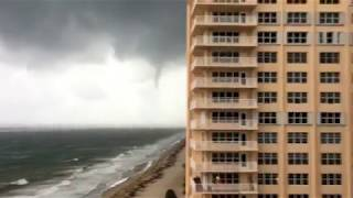 Waterspout/ Tornado Making landfall In Lauderdale by the Sea (Hurricane Irma)