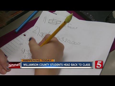 Williamson County Schools Head Back To Class