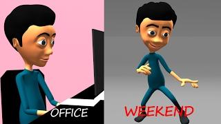 Weekend Fun Animation    Toptoos Funny Videos