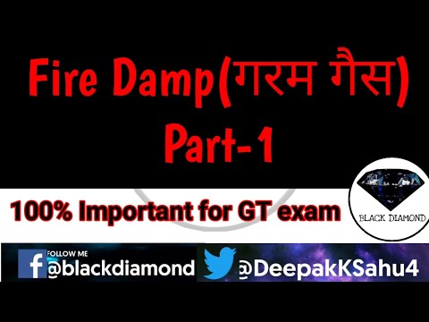 Firedamp    गरम गैस    Methane gas  gases found in mines    Gas Testing Exam    GT exam  DGMS