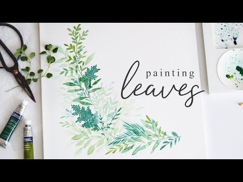 Painting Leaves in Watercolor