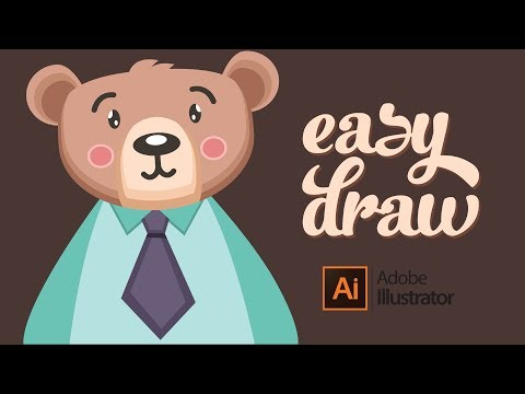 Flat Design Bear Tutorial in Adobe Illustrator thumbnail