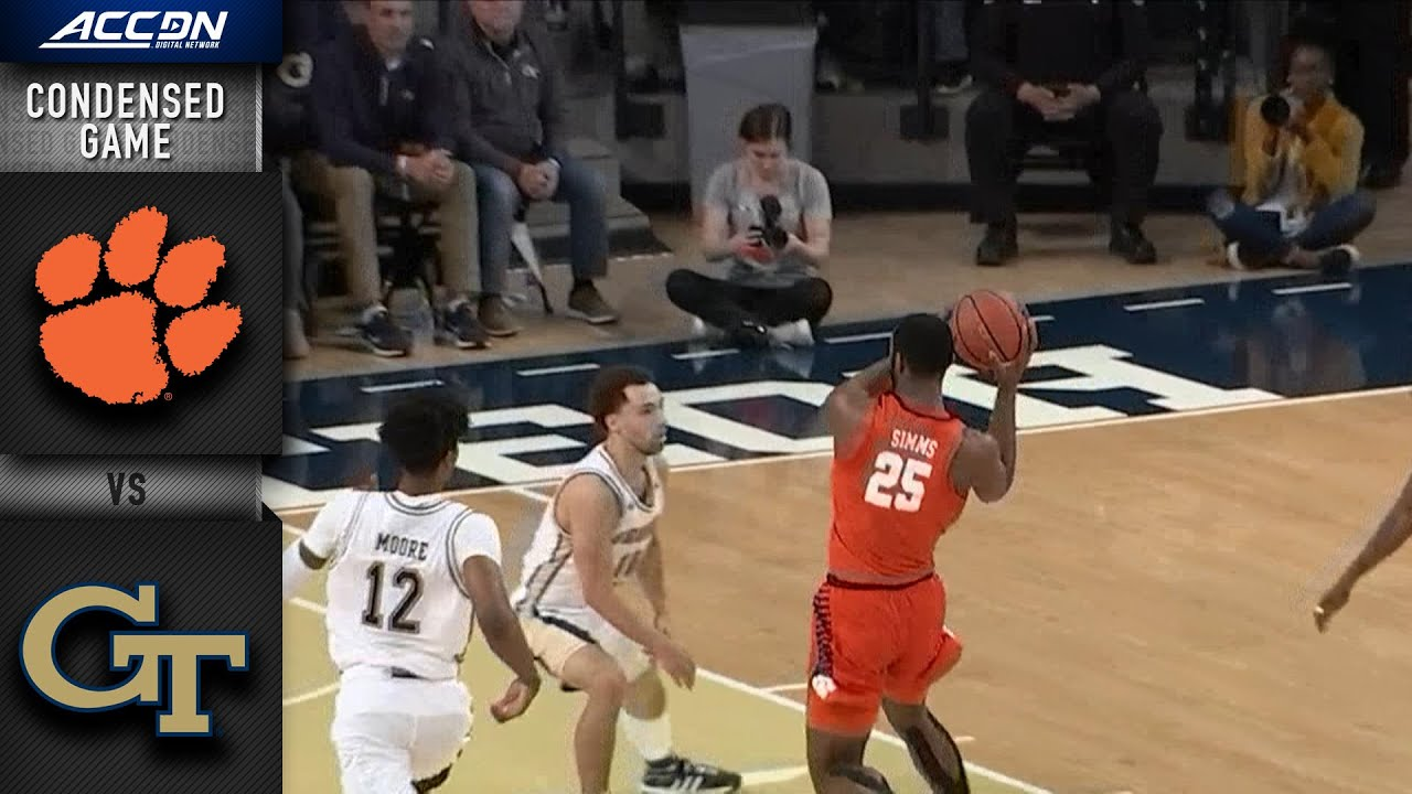 Clemson Vs Georgia Tech Condensed Game 2019 20 Acc Men S Basketball Youtube