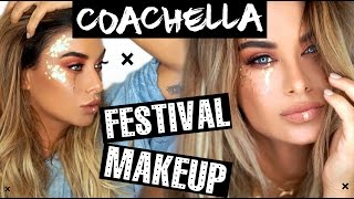 Coachella inspired festival makeup + NEW HAIR!