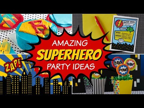 33 Best Superhero Party Ideas & Supplies!