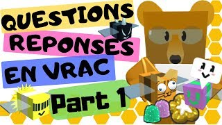 PERGUNTAS/REPONSES #1 + DISCORD sur Bee Swarm Simulator DE ROBLOX