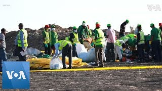 Investigators and Forensics Search Ethiopian Airlines Crash Site