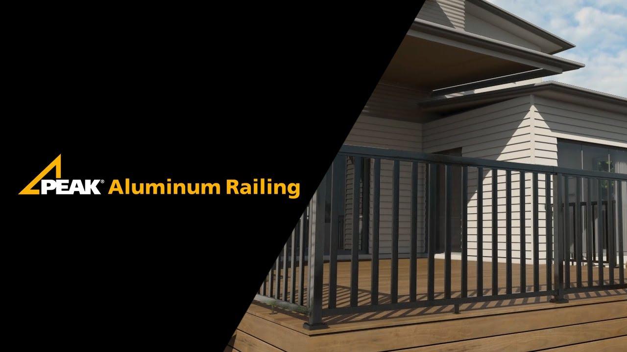 Peak Aluminum Railing Picket Installation