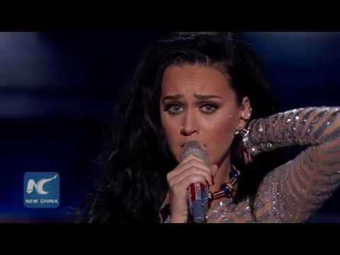 "Katy Perry sings ""Rise"" and ""Roar"" at 2016 Democratic National Convention"