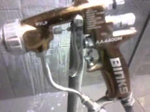 pulverisation devilbiss binks pistolet peinture youtube. Black Bedroom Furniture Sets. Home Design Ideas