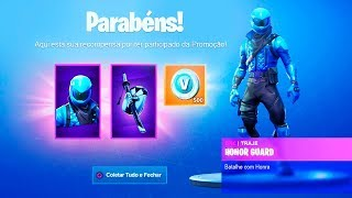 * LEAKED * Free codes from Skin Honor Guard at Fortnite..!