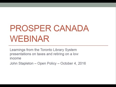 Webinar: Learnings from presenting retiring on a low income by John Stapleton