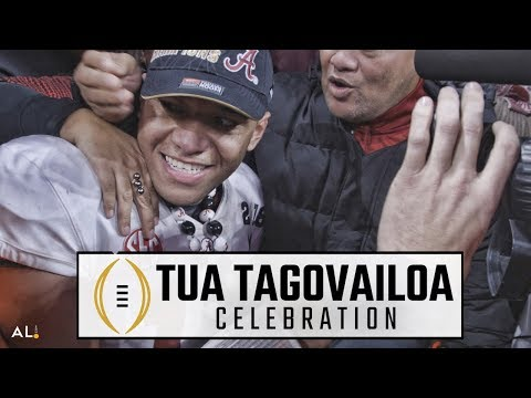 Join Tua Tagovailoa wild victory lap after Alabama beats Georgia for national championship