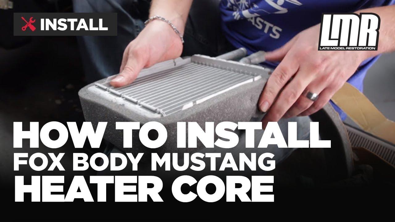 medium resolution of fox body mustang heater core installation 79 93