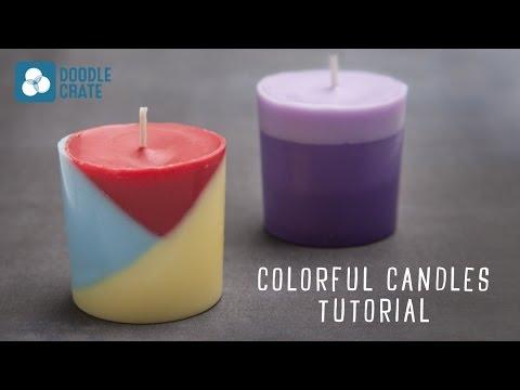 Make Diy Layered Candles With Crayons