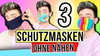 Mundschutz einfach selber machen - ohne nähen | 3 Varianten Deutsch | Dimxoo