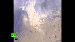 Минобороны опубликовало видео ударов ВКС РФ по позициям ИГИЛ  Сирия война сегодня