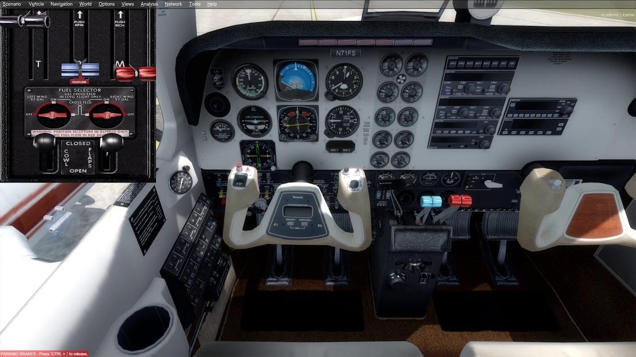 P3d V4 Beechcraft Baron 58 Vol De Lyon Bron A Clermont Ferrand Phase