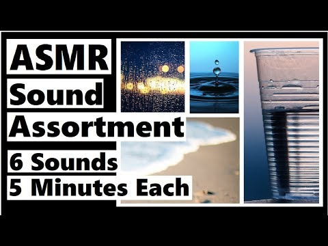 ASMR Sound Clip Assortment - Splashing Water, Birds, Plastic Crinkles, Waves, Rain, Energy Chime