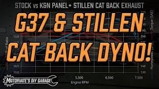 Stillen Cat Back Dyno: G37 Sport Sedan  - Motorvate's DIY Garage Ep. 11