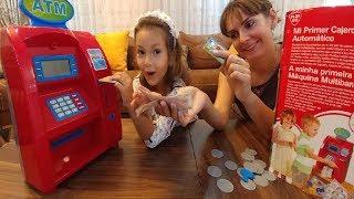 ATM Para çek para yatır ,Eğlenceli çocuk videosu, toys unboxing