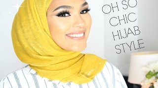 TRENDY CHIC HIJAB STYLE   wedding/work/special occasions