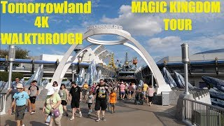 Tomorrowland Magic Kingdom 4K Complete Walkthrough Tour   Walt Disney World 2019 Orlando Florida