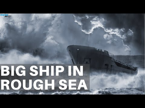 Big Tanker Ship in Extreme Storm With Heavy Winds