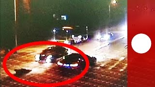 Incredible survival footage: Man hit by 3 cars still alive in China