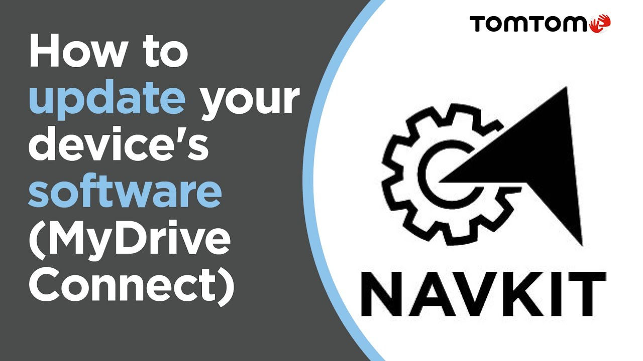 Updating the software on your navigation device (MyDrive