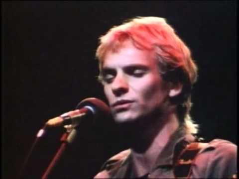 STING - MESSAGE in a BOTTLE (AMNESTY,SEPTEMBER 1981 LONDON)