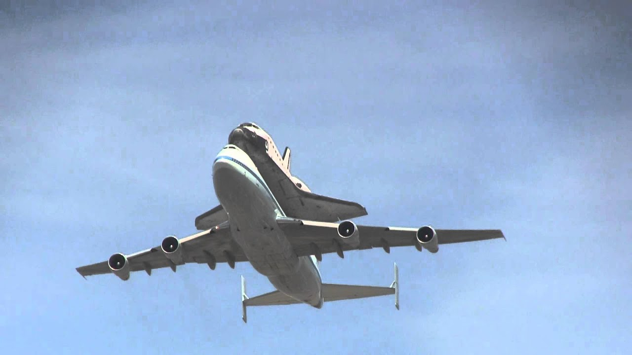 Space Shuttle Flyovers of Dodger Stadium & LA Live - YouTube |Space Shuttle Flyover