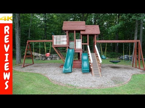 Custom Build Wooden Swing Sets Review and Ideas