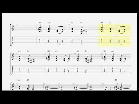Thunderstruck  - ACDC Guitar Tab