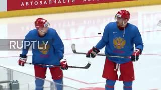 Slovakia: Russia hit the ice ahead of USA QF clash at Hockey World Champs