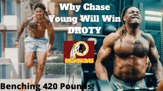 Insane Chase Young Redskins Workout Videos! Why Chase Young Will Win Defensive Rookie Of The Year!