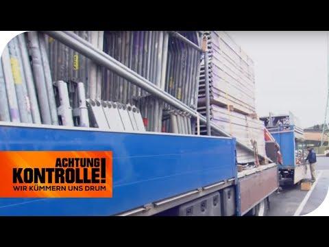 Turmbau auf dem LKW: Ist der Truck zu hoch beladen? | Achtung Kontrolle | kabel eins