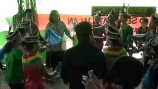 Dayak (Borneo Kalimantan) Traditional Dance in Wedding Party
