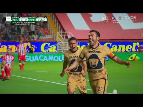 Gol de J. Vigón | Necaxa 0 - 1 Pumas  | Liga MX - Guard1anes 2021 - Jornada 14 | LIGA BBVA MX