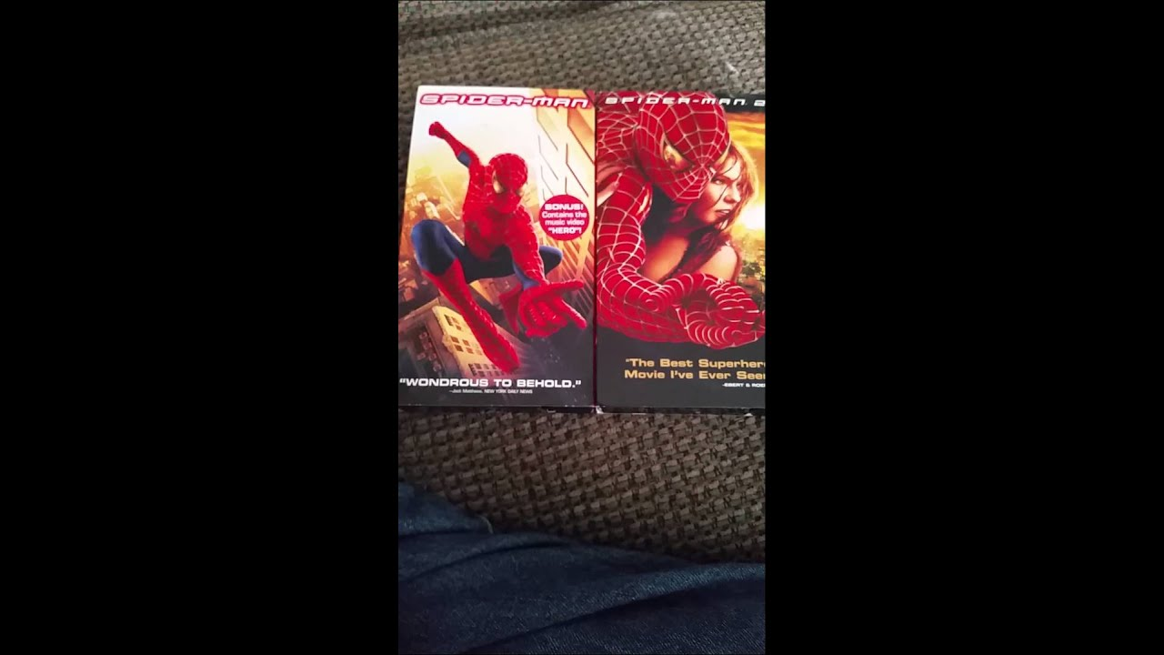 Spiderman 1 Amp 2 Vhs Unboxing Youtube