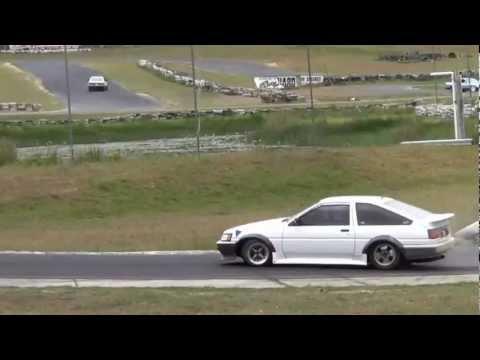 Drift Fest Zero 1 - Ae86 Levin Toyota Sprinter @ Raleigh with Ae86 Driving Club