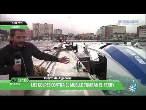 Se hunde un ferry en el Puerto de Algeciras por el temporal de levante, en Andalucía Directo