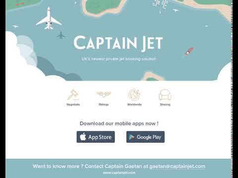 CaptainJet - UK's newest private jet booking solution!