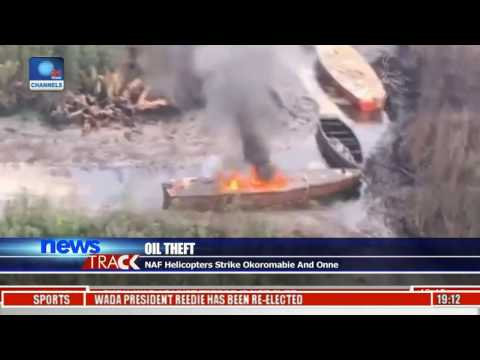 Oil Theft: Air Force Destroys Illegal Barges In Rivers