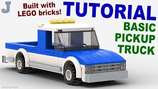 LEGO pickup with camping trailer custom