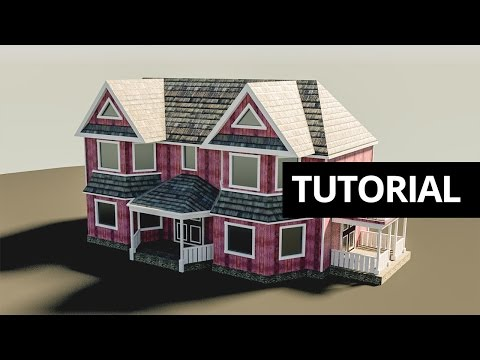 Tutorial: Fast simple houses in Blender
